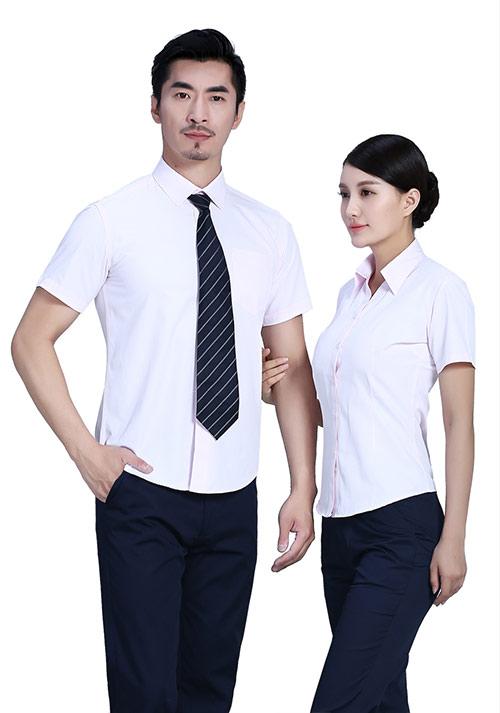 浅粉短袖衬衫