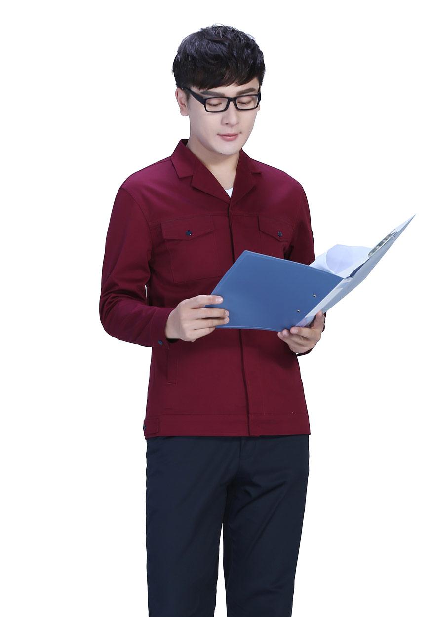 藏蓝色春秋工作服FY8001