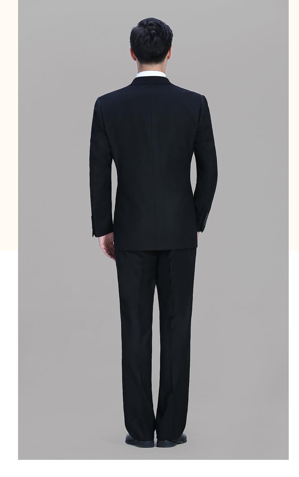 黑色男士休闲商务二粒扣西服FX002