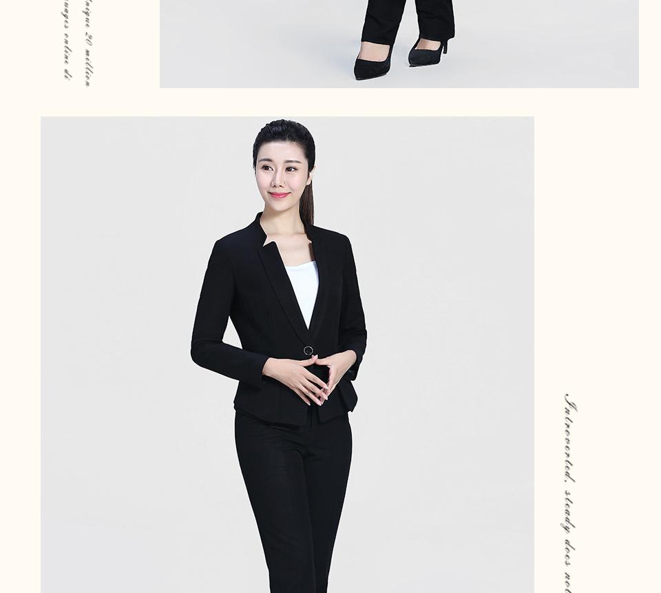 黑色修身时尚女士职业装FX07